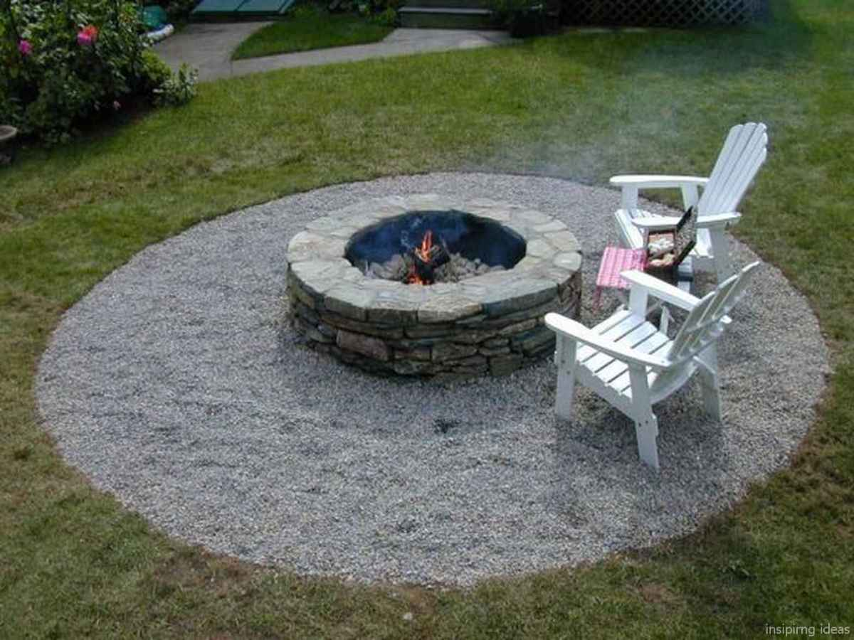 110 Fabulous Gravel Patio Ideas with Fire Pits 24