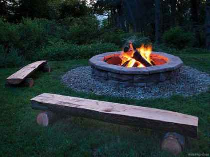 110 Fabulous Gravel Patio Ideas with Fire Pits 42