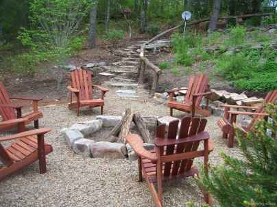 110 Fabulous Gravel Patio Ideas with Fire Pits 47