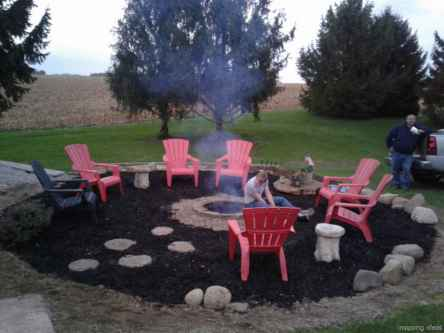 110 Fabulous Gravel Patio Ideas with Fire Pits 60