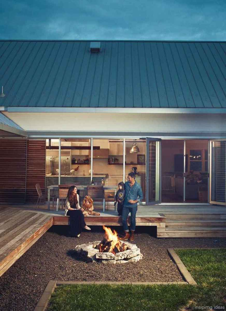 110 Fabulous Gravel Patio Ideas with Fire Pits 71