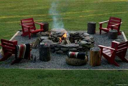 110 Fabulous Gravel Patio Ideas with Fire Pits 76