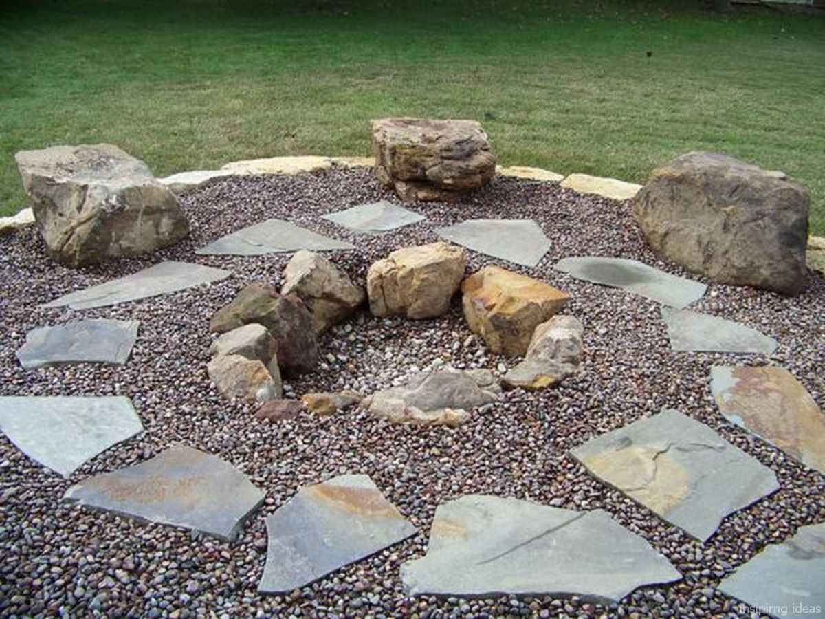 110 Fabulous Gravel Patio Ideas with Fire Pits 81