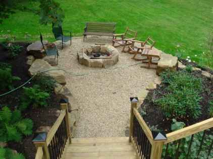 110 Fabulous Gravel Patio Ideas with Fire Pits 92