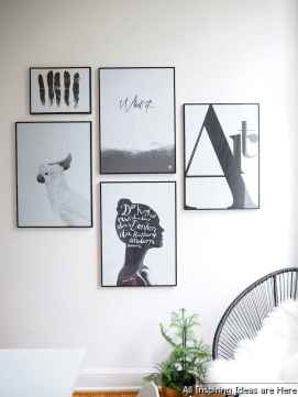 Creative Gallery Wall Ideas 33 for Living Room