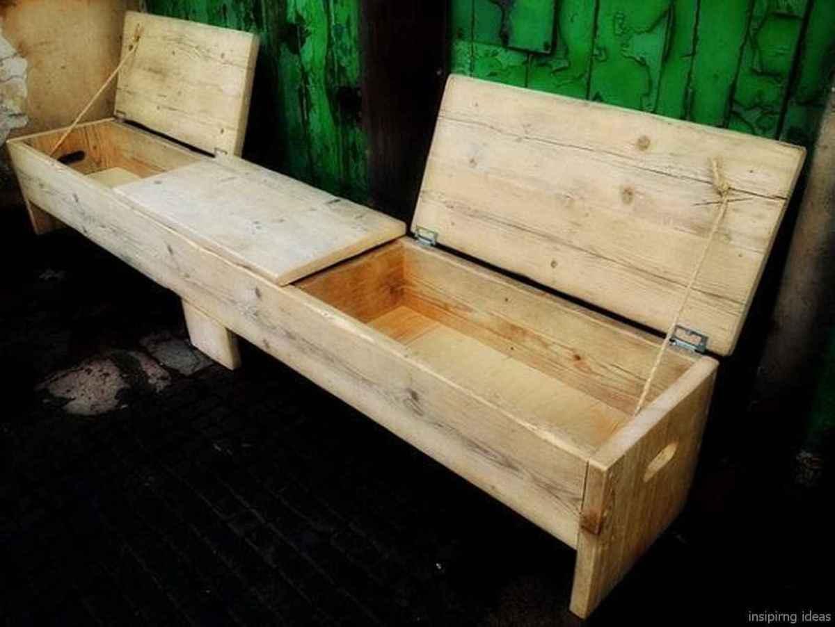 Rustic DIY Storage Bench Ideas 02