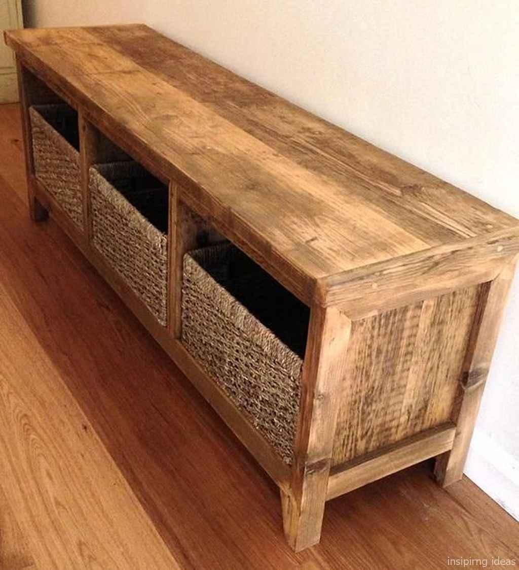 Rustic DIY Storage Bench Ideas 05
