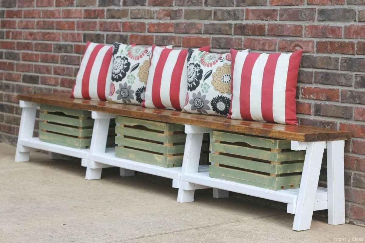Rustic DIY Storage Bench Ideas 11