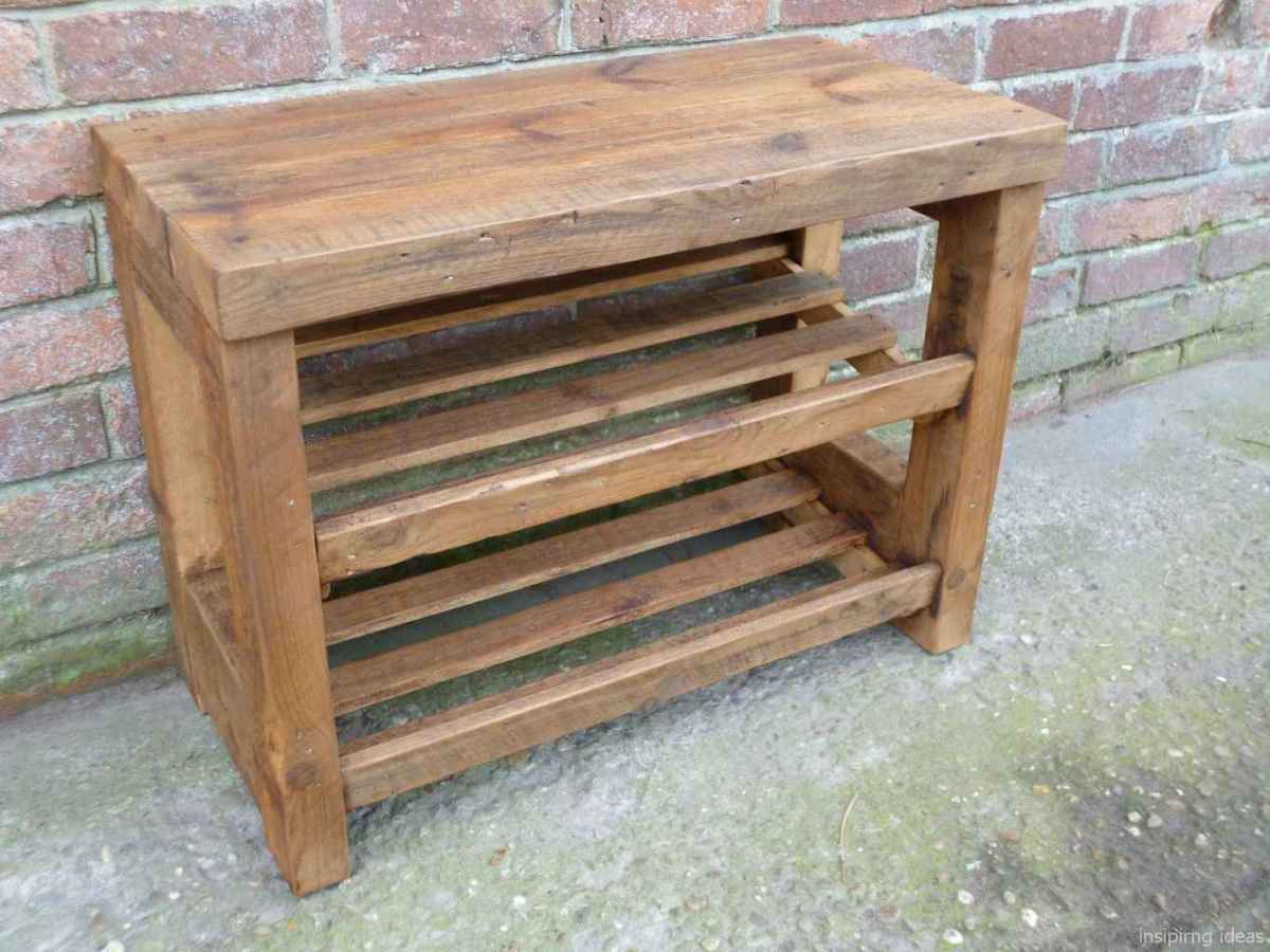 Rustic DIY Storage Bench Ideas 14