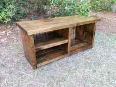 Rustic DIY Storage Bench Ideas 71
