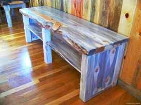 Rustic DIY Storage Bench Ideas 76