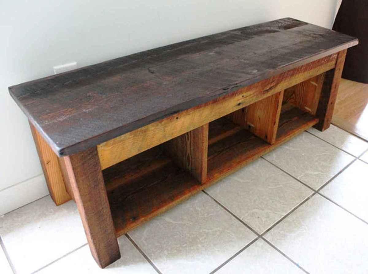 Rustic DIY Storage Bench Ideas 78