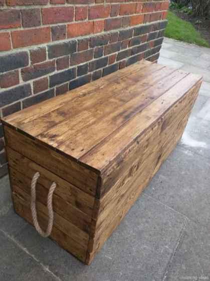Rustic DIY Storage Bench Ideas 80