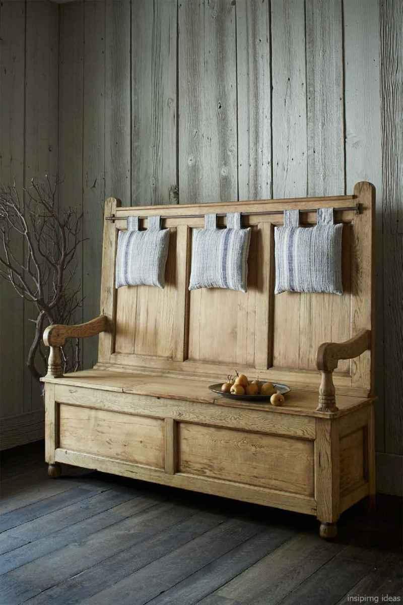 Rustic DIY Storage Bench Ideas 84