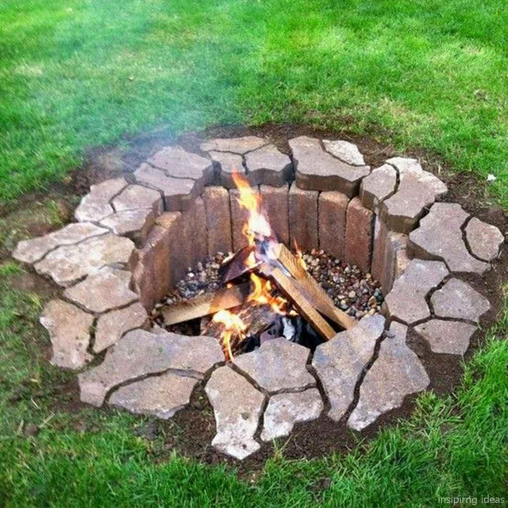 100+ Cheap Backyard Fire Pits Design 92