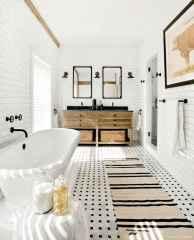 77 Fabulous Modern Farmhouse Bathroom Tile Ideas 09