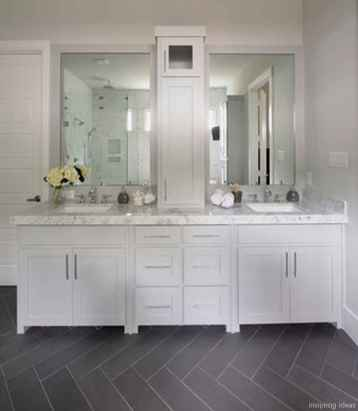 77 Fabulous Modern Farmhouse Bathroom Tile Ideas 38