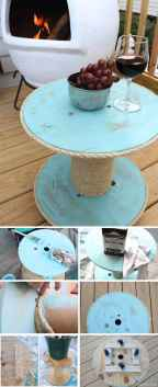 01 DIY Upcycled Spool Project Ideas for Outdoor Furniture