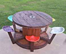 31 DIY Upcycled Spool Project Ideas for Outdoor Furniture