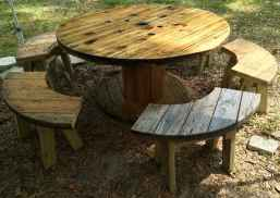 44 DIY Upcycled Spool Project Ideas for Outdoor Furniture