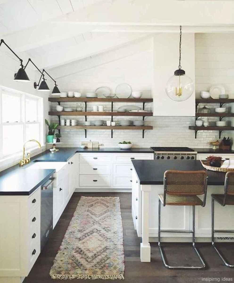 80 Awesome Modern Farmhouse Staircase Decor Ideas: Modern Farmhouse Kitchen Backsplash Design Ideas 58
