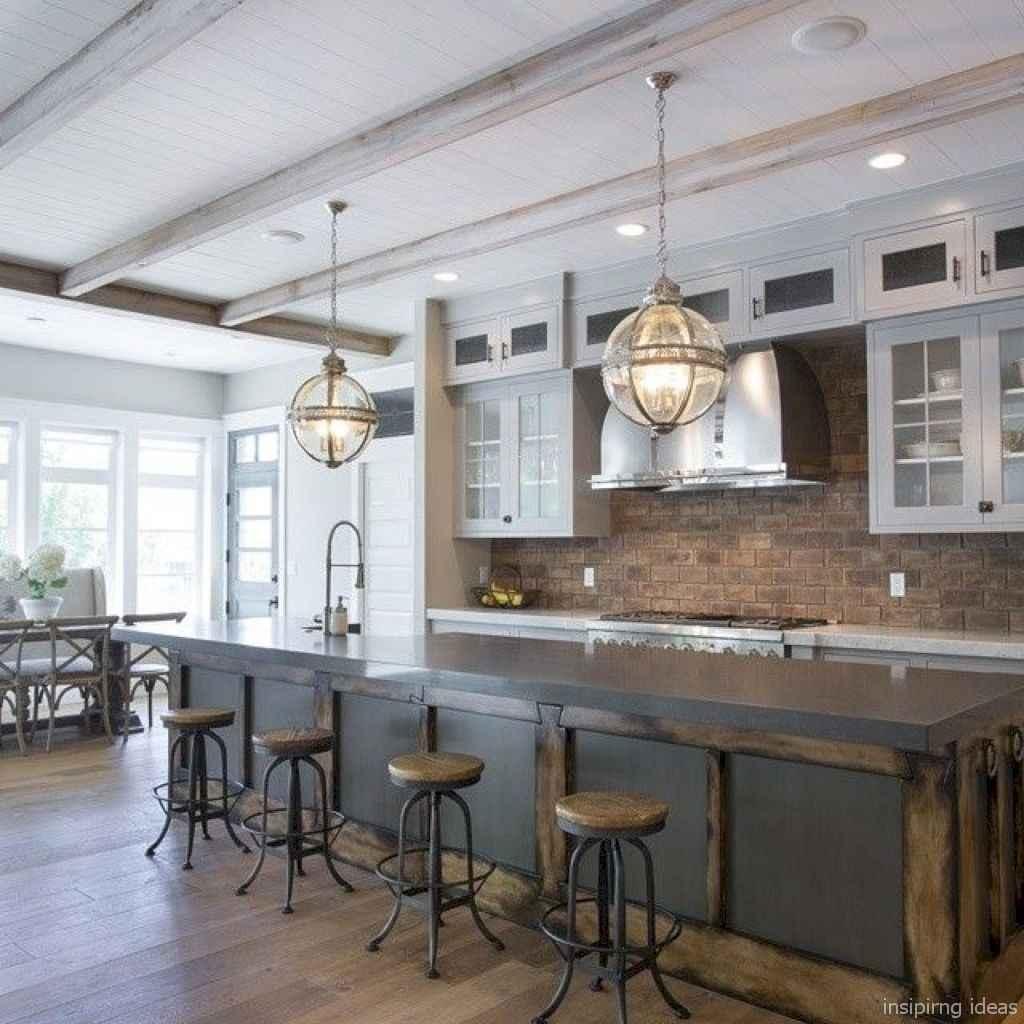 Modern Farmhouse Kitchen Backsplash Design Ideas 61