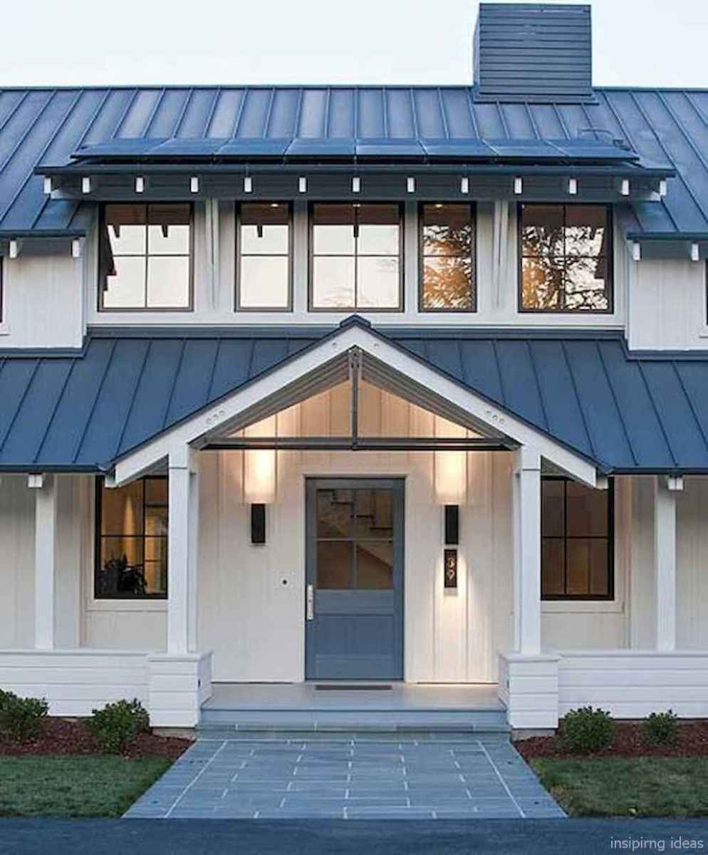 Simple Modern Farmhouse Exterior Design Ideas 65