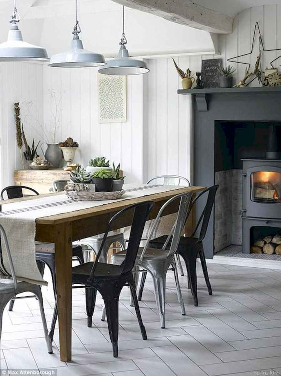 01 Beautiful Modern Farmhouse Dining Room Decor Ideas