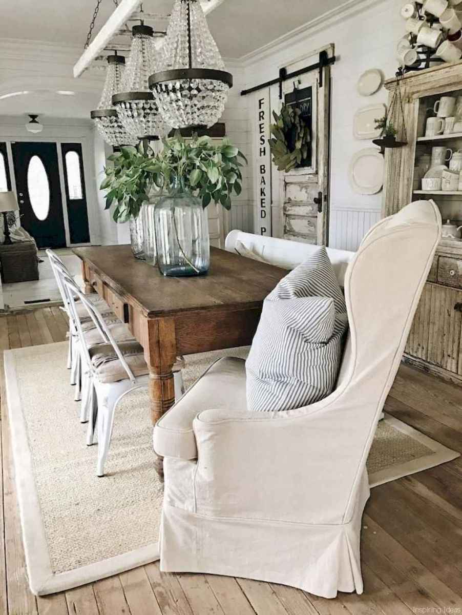 40 Beautiful Modern Farmhouse Dining Room Decor Ideas