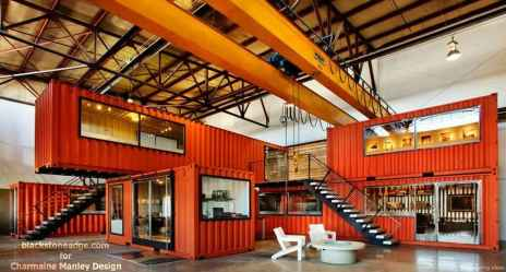 54 Unique Container House Interior Design Ideas