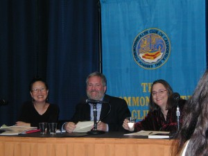 authors Teresa LeYung Ryan, Scott James, Elizabeth Block speak about promoting creatively at the Commonwealth Club