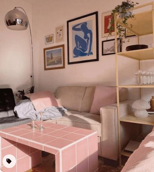 diy decor inspiration tiled tables