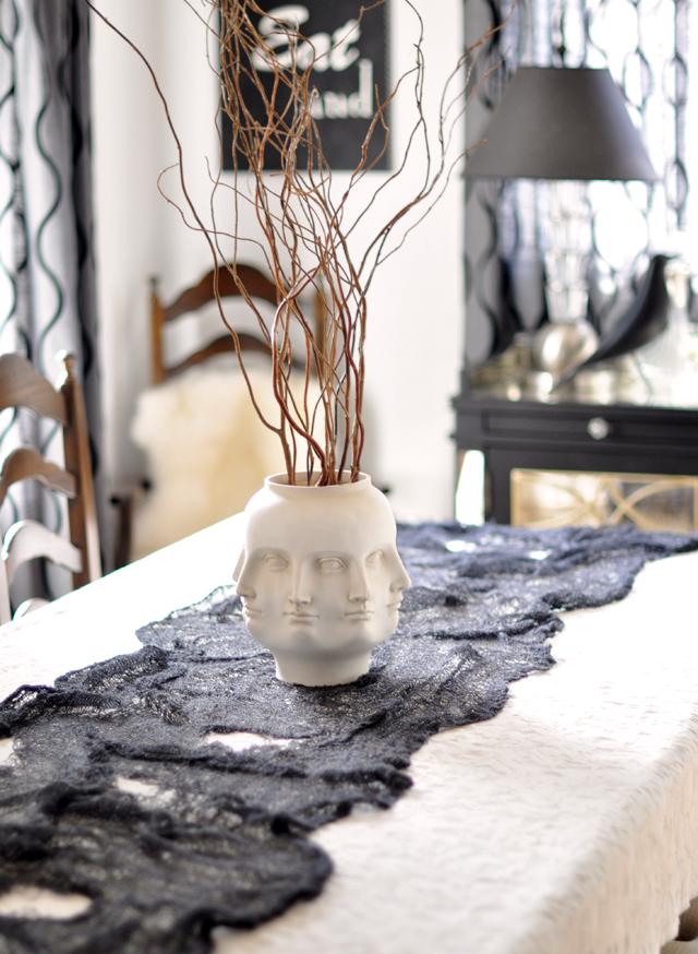 easy halloween tabletop decor spooky