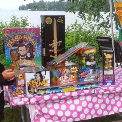 This is what $400 of fireworks looks like