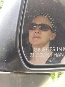 Riding shotgun on the 20 Mile Road