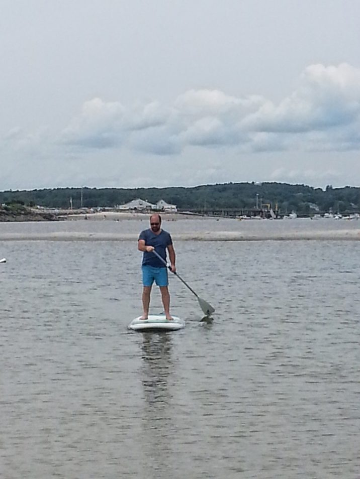 My old roommate out for a paddle