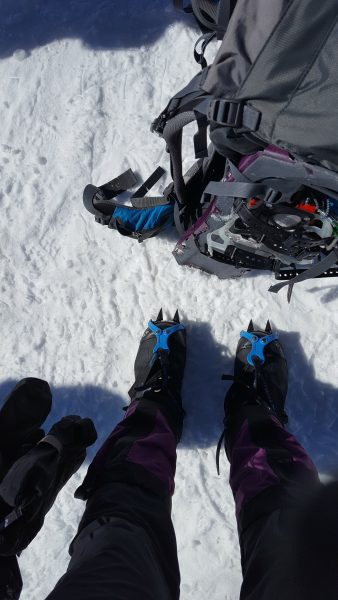 My trusty Deuter pack, MSRs and Astri Alpin Crampons