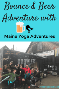 Maine Yoga Adventures, Growler Bus, Maine, Beer tour, yoga tour, marshall wharf, winterport winery, yoga tour, beer and yoga