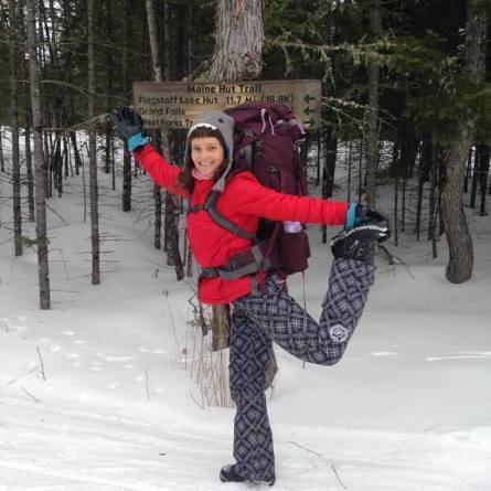 Winter adventures Maine Yoga Adventures