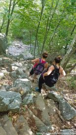 A hike up Precipice Trail on Champlain Mountain in Acadia National Park, Maine