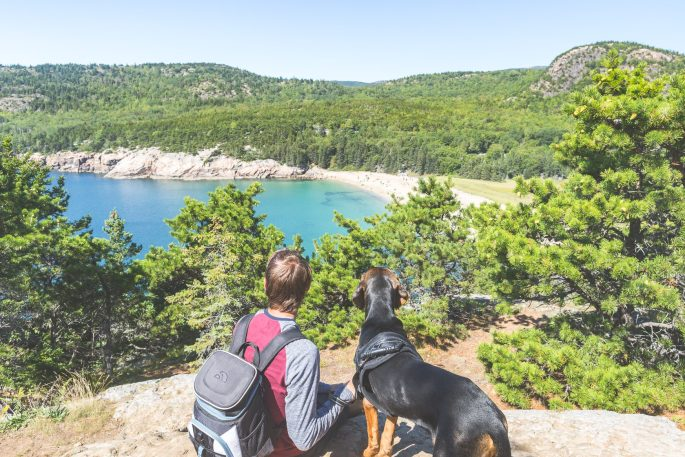 Andrew and Jett at Acadia National Park