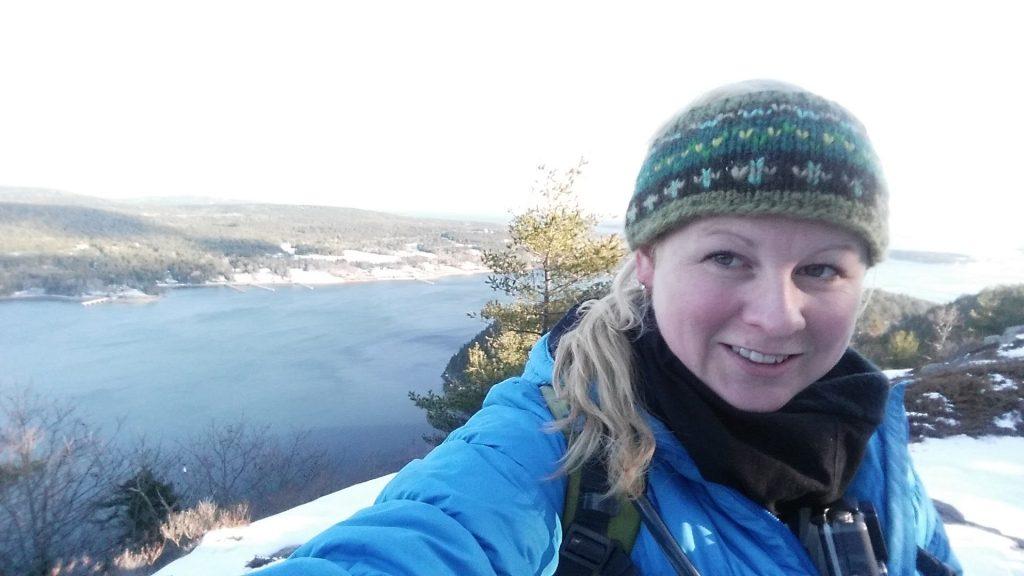 Acadia Mountain to Saint Sauveur loopin winter Acadia National Park