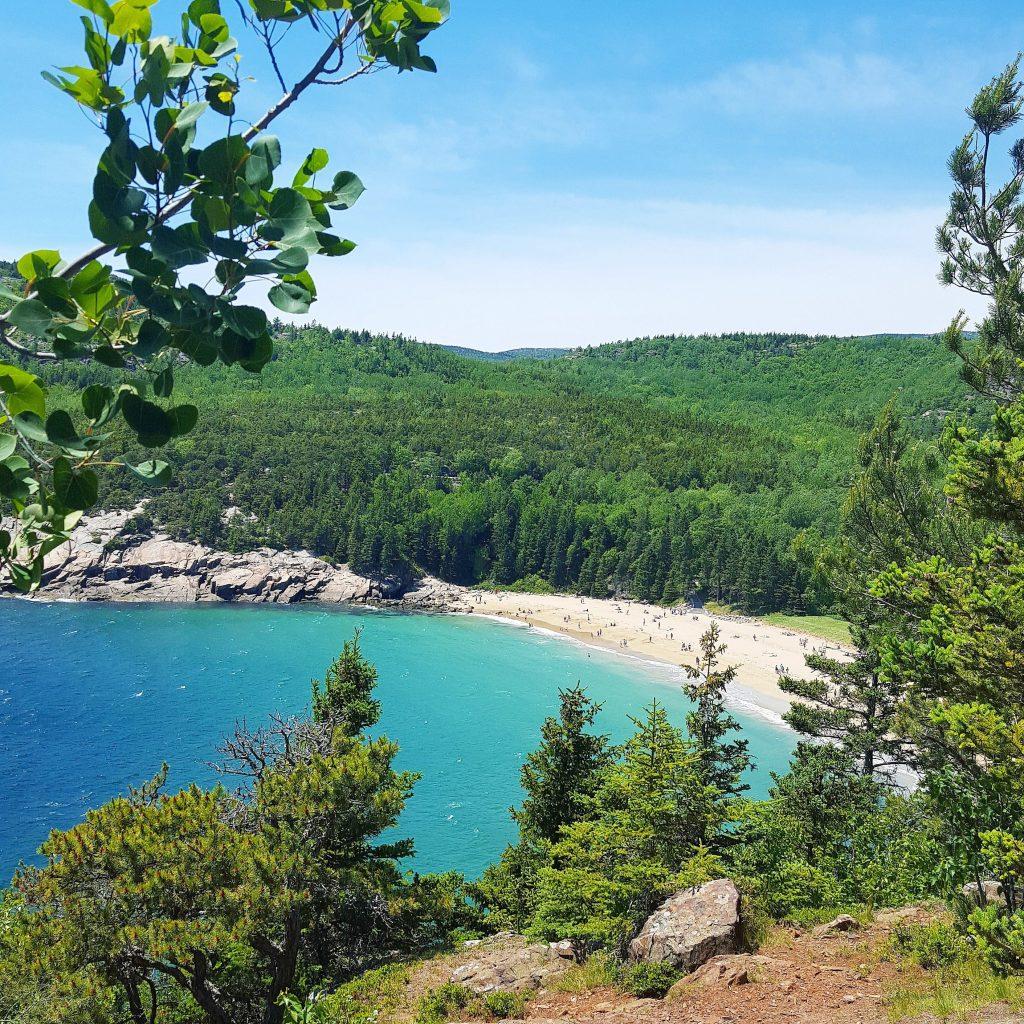 Great Head Trail, sand Beach, Acadia National park, Park Loop Road