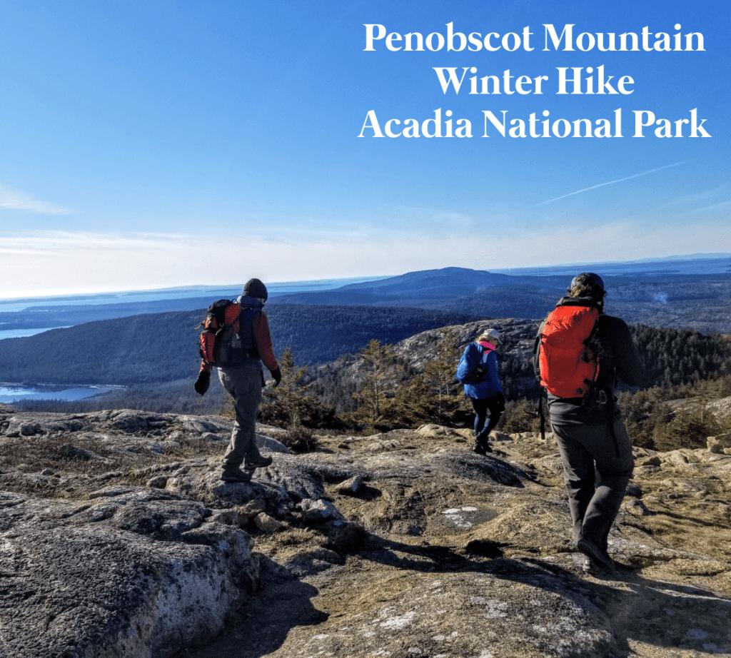 Penobscot Mountain Summit Acadia Winter Maine