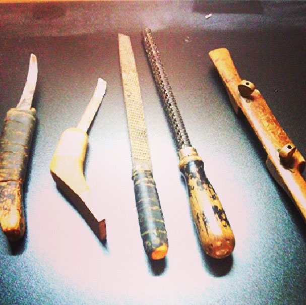 Curved knives, rasps, and the spokeshave,