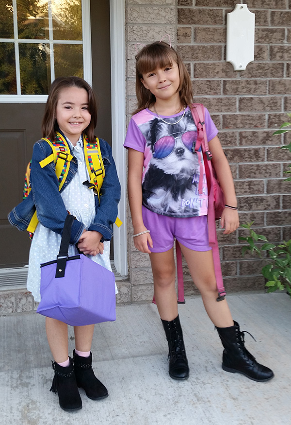 kids on first day of school
