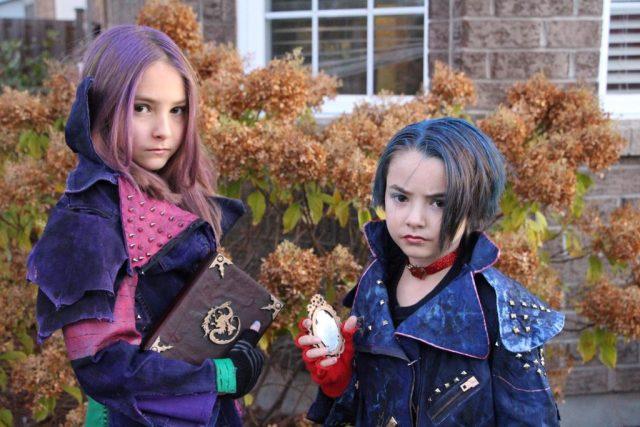 Mal and Evie from Disney's Descendants
