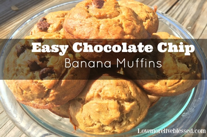 Easiest Chocolate Chip Banana Muffins!