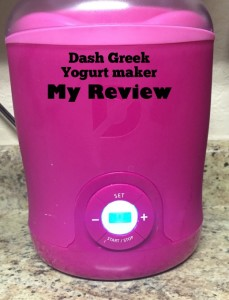 Dash Greek Yogurt Maker Review