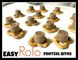 Quick and easy chocolate pretzel bites!